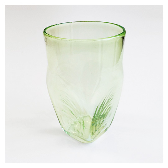 Emerald glass tumbler by Stephen Newell